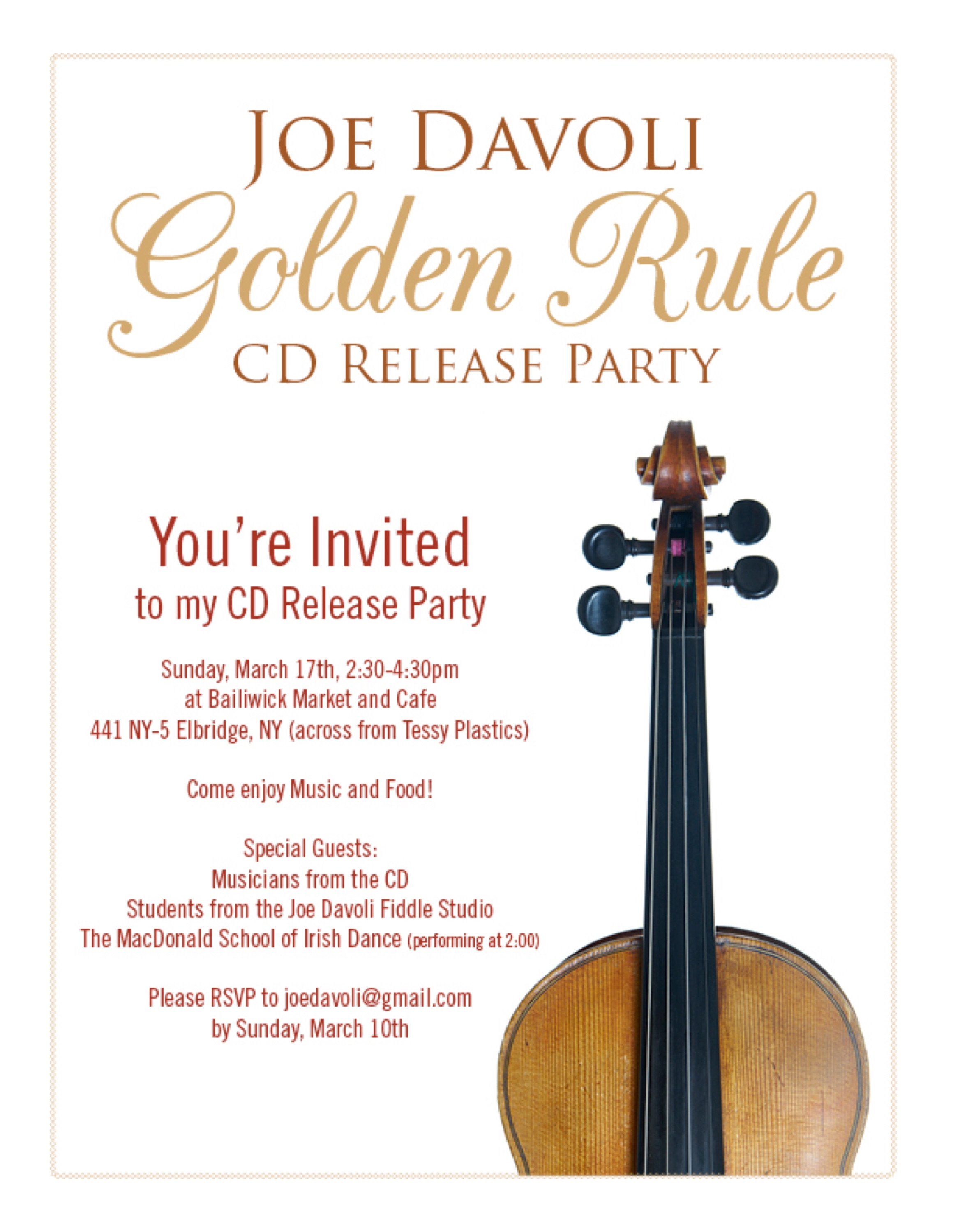 """CD RELEASE PARTY THIS SUNDAY! Come help me celebrate """"Golden"""